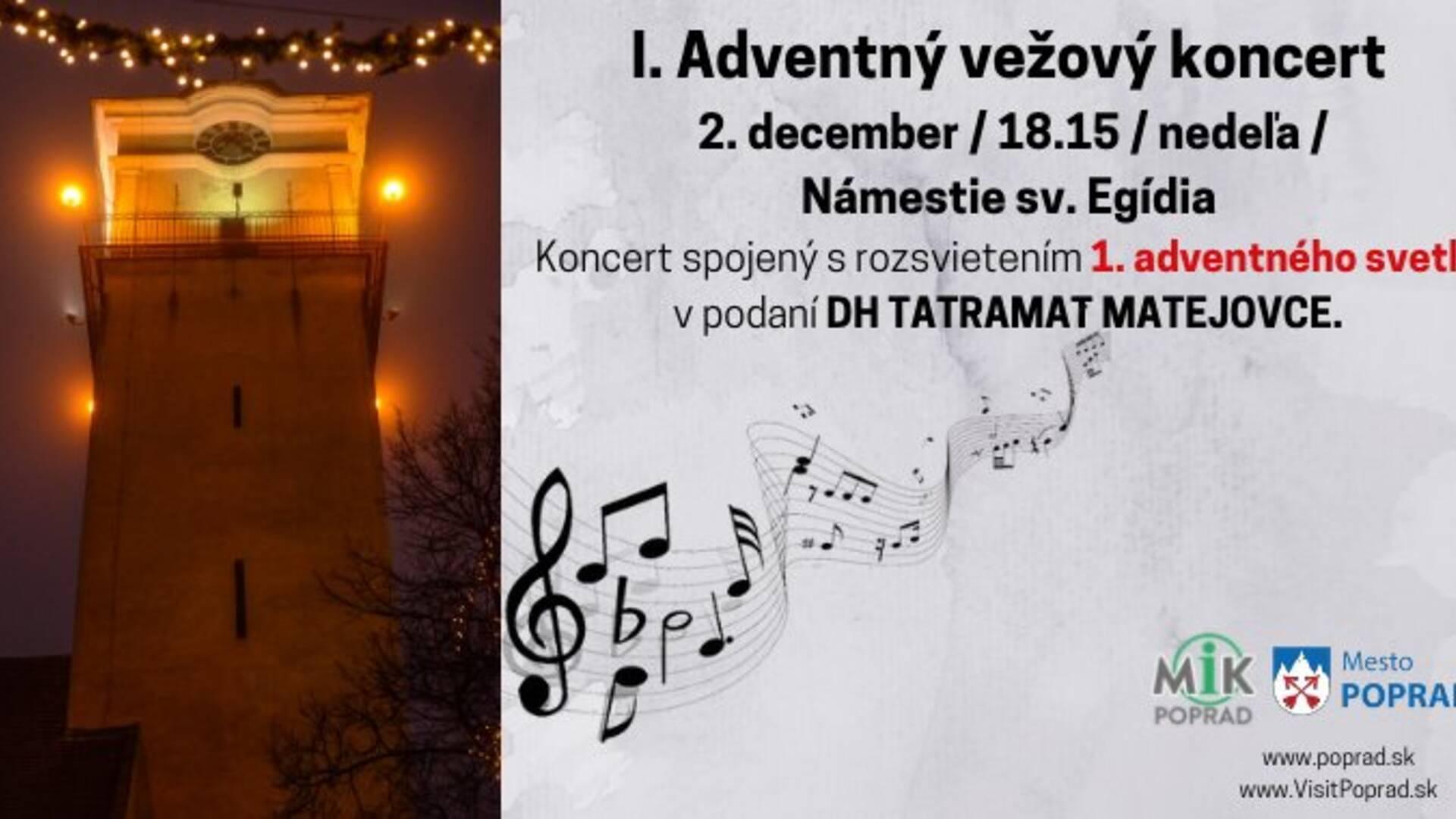 05a3a1e7f I. Adventný vežový koncert - Poprad | Podujatia | GoSlovakia